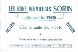 BUVARD-BLOTTING-PAPER-PRODUIT-PHARMACIE-VERMIFUGES-SORIN-BLAIN-44-SANTE-ENFANTS - Drogheria