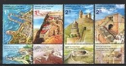 Israel 2011  Yv. 2098-101, Architecture, Constructions Of King Herod 1st – Tab - MNH - Ongebruikt (met Tabs)