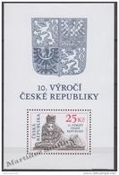 Czech Republic - Tcheque 2003 Yvert BF 16 - 10th Anniversary Of The Czech Republic - MNH - Czech Republic