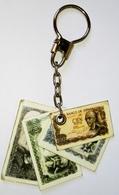 Key Chain, Porte-clés, Llavero / Billetes Españoles De Pesetas, Billets En Pesetas Espagnoles, Spanish Paper Money Of Pe - Llaveros