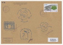 TAAF - Enveloppe Affr 0,65E Algue Prasila Crisa - Divers Cachets Mission 63 - Dumont D'Urville T. Adélie 1-1-2013 - Franse Zuidelijke En Antarctische Gebieden (TAAF)