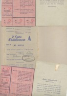 Guerre 40/45 - Communes De BOMAL, TOHOGNE, VERLAINE ( Hamoir) 3 Cartes D'habillement A Pour Hommes (b258) - 1939-45
