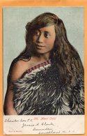 Maori Child New Zealand 1905 Postcard Mailed - New Zealand