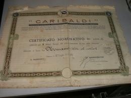 AZIONE GARIBALDI CERTIFICATO NOMINATIVO VALEVOLE PER 5 AZIONI SOCIALI 1936 - Actions & Titres