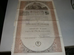 AZIONE PIRELLI CERTIFICATO PER UNA AZIONE 1947 - Verkehr & Transport