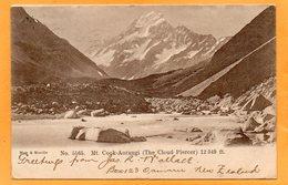 Mt Cook Aorangi New Zealand 1905 Postcard Mailed - New Zealand