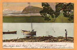 On Lake Te Anau New Zealand 1905 Postcard Mailed - New Zealand