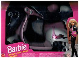BARBIE MOTOR SCOOTER MOTORROLLER LA MOTE DE BARBIE MATTEL 1997 VESPA - Barbie