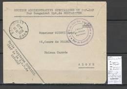 Algerie - Lettre - Cachet FM SAF SAF SAS + Cad BOUGUIRAT-  Marcophilie - Algeria (1924-1962)