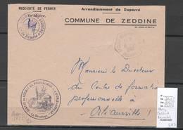 Algerie - Lettre  - Cachet Hexagonal ZEDDINE BOURACHED  SAS-  Marcophilie - Algérie (1924-1962)