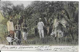 1 CPA 1907 Congo Belge Circulé Boma - Travailleurs De L'agriculture - Africa