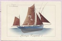 """CPM - THONIER - """"Georges Raymond 2"""" (bateau Concarneau) - Illustration Pierre-Emmanuel DEQUEST - Edition Gulf Stream - Pêche"""