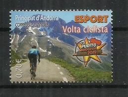 """""""La Purito"""" 2019 Andorra.Course Cyclotouriste. 145 Km,avec 5 200 Mètres De Dénivelé. Timbre Neuf ** - Spanish Andorra"""