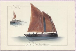 "CPM - SARDINIER - ""Le Vercingétorix"" (bateau Doarnenez) - Illustration Pierre-Emmanuel DEQUEST - Edition Gulf Stream - Pêche"