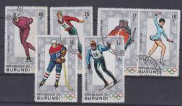 Burundi 1968 Grenoble Olympic Games 6 Stamps Used (H57) - Winter 1968: Grenoble