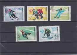 Poland 1968 Grenoble Olympic Games 5 Stamps Used (H57) - Winter 1968: Grenoble