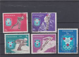 Panama 1968 Grenoble Olympic Games 5 Stamps Used (H57) - Winter 1968: Grenoble