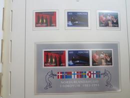 Faroe Islands 1993 ,  Facit 243 - 245 + Block 6  (Complete Sets) (Box 1 - 26) - Féroé (Iles)
