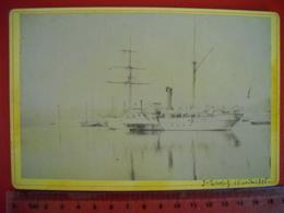 St Tropez .  Photo D' Un Bateau A Roue . De 1896 .  2 Photos - Barche