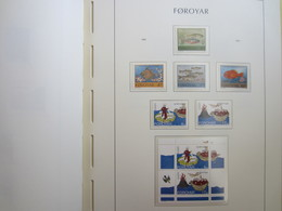 Faroe Islands 1994 ,  Facit 256 - 261 + Block 7  (Complete Sets) (Box 1 - 28) - Féroé (Iles)