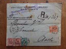 REGNO - Raccomandata Viaggiata Nel 1902 Con Annullo Arrivo E Erinnofilo Retro + Spese Postali - 1900-44 Vittorio Emanuele III