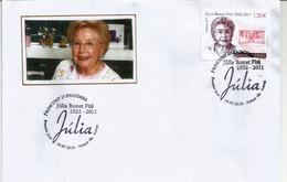 Sra Júlia Bonet Fité,fundadora De Perfumeria Júlia., Año 2019. FDC Andorra 19 / 07 / 2019 - FDC