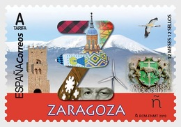H01 Spain 2019 12 Months, 12 Stamps - Zaragoza MNH ** Postfrisch - 1931-Heute: 2. Rep. - ... Juan Carlos I