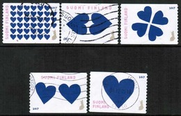 2017 Finland Hearts, Complete Set Used. - Used Stamps