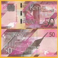 Kenya 50 Shillings P-NEW 2019 UNC Banknote - Kenia