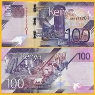 Kenya 100 Shillings P-NEW 2019 UNC Banknote - Kenia