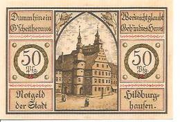 Notgeld Hildburghaufen 50 Pf 1921 - [11] Local Banknote Issues
