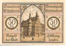 Notgeld Hildburghaufen 50 Pf 1921 - [11] Emissioni Locali