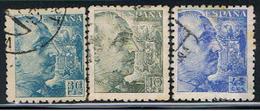 (E 745) ESPAÑA // EDIFIL 924, 925, 926 // YVERT 682, 683, 684 // 1940-41 - 1931-Aujourd'hui: II. République - ....Juan Carlos I