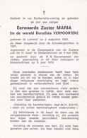 Zuster, Soeur, Dorethea Verpoorten, Lommel,Munsterbilzen - Religion & Esotérisme