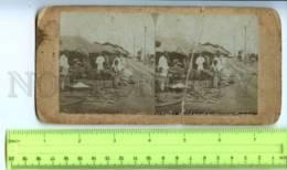 410100 KOREA SEOUL Trade At The Railway Vintage STEREO PHOTO - Stereoscopic