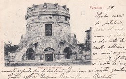 CARTOLINA - RAVENNA - MAUSOLEO DI TEODORICO - VIAGGIATA PER PISA ( FRANCOBOLLO ASPORTATO) - Ravenna