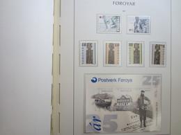 Faroe Islands 2001 ,  Facit 387 - 392 + Block 10  (Complete Sets) (Box 1 - 42) - Féroé (Iles)