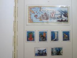 Faroe Islands 2002 ,  Facit 417 - 422 + Block 12  (Complete Sets) (Box 1 - 44) - Féroé (Iles)