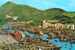 1 AK Hongkong * Bird's - Eye View Of  The Famous Fishing Village Of Aberdeen - Luftbildaufnahme * - China (Hongkong)