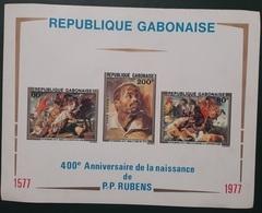 GABON 1977 RUBENS PAINTINGS 400 TH ANNIVERSARY IMPERF SHEET BLOC BLOCK ND NON DENTELE - ULTRA RARE MNH - Gabon