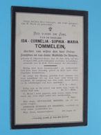 DP Ida Cornelia Sophi TOMMELEIN ( De Bruyne ) Ghyverinchove 23 Juli 1874 - 19 April 1906 Ledeberg ( Zie / Voir Photo ) ! - Décès