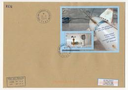 TAAF - Enveloppe Affr. Bloc 1E Laurent Tixador - Port Aux Français Kerguelen 21/03/2014 - Franse Zuidelijke En Antarctische Gebieden (TAAF)