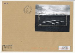 TAAF - Enveloppe Affr. Bloc 1E Klavdij Sluban, Atelier Des Ailleurs - Port Aux Français Kerguelen 21/03/2014 - Franse Zuidelijke En Antarctische Gebieden (TAAF)