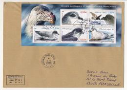 TAAF - Enveloppe Affr. Bloc 5 Timbres Petrel - Martin De Vivies, St Paul-Ams - 6/4/2009 - Terres Australes Et Antarctiques Françaises (TAAF)
