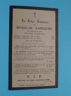 DP Rosalie SANDERS (Hendrik Verdeure) Ghistel 20 Juli 1834 - 17 Maart 1909 ( Zie / Voir Photo ) ! - Décès