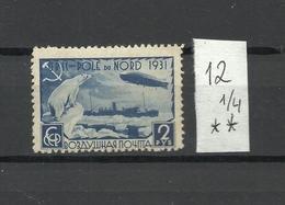 RUSSIA. URSS. USSR. 1931. Malygin, Zeppelin, 2 Rub. MNH OG. - 1923-1991 URSS