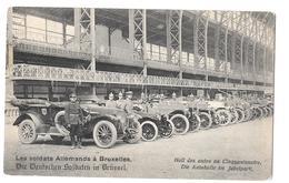 Les Soldats Allemands à Bruxelles Deutscheu Soldaten In Brussel Hall Des Autos Au Cinquantenaire Autohalle Non Circulée - België