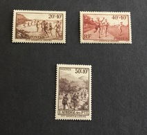 France 1937 PTT 345-347 Neufs* - Nuevos