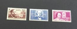 France 1940 Chômeurs Intellectuels 462-464 Neufs* - France