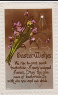AL71 Greetings - Easter Wishes, Flowers, Star, Cross - Easter
